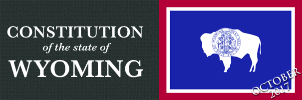 Banner-constitution of wyoming